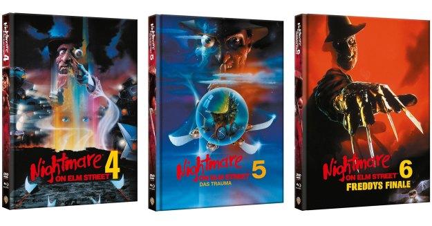 Nightmare Teil 4, 5, 6 - Uncut Mediabooks von Alphamovies