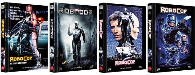 Robocop 1 - Vier Mediabooks von '84 Entertainment