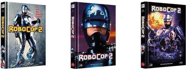 Robocop 2 - Vier Mediabooks von '84 Entertainment