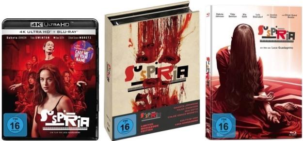 Suspiria (2018) - 4K-Blu-ray & Mediabooks von Koch Films / Capelight
