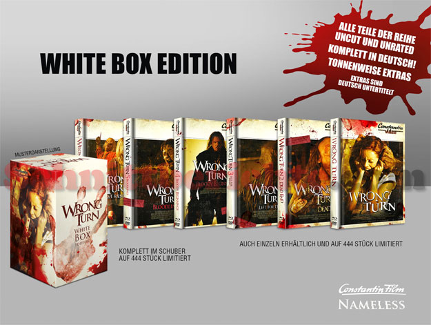 Wrong Turn Uncut - Nameless White Box Edition mit Retro-Covern