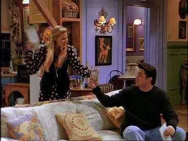 Joey og rachel begynder at danse