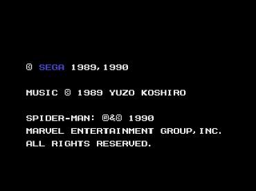 le mystere super shinobi MD Copyright