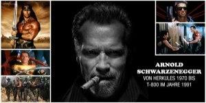 Arnold Schwarzenegger - Von Herkules 1970 bis T-800 im Jahre 1991. 22 Jahre Kinogeschichte & viele Schnittberichte im Überblick.