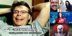Stephen King-Verfilmungen in der großen Zensur-Übersicht: Teil 1 konzentriert sich auf die Jahre 1976-1990.