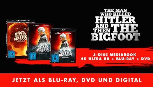 The Man who killed Hitler and then the Bigfoot - Jetzt erhältlich als Blu-ray, DVD, 4K UHD und VOD!