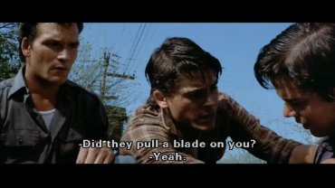The Outsiders Rob Lowe Shower ... Shower Scene outsi...