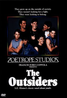 the outsiders film or novel The book is a coming-of-age novel, but the movie focuses on the characters' loss of innocence the movie follows the story line very closely the reader is only told that this story takes place in the southwest, but the movie places it in tulsa, oklahoma, in the year 1966.